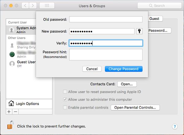 MacOs-Users-root-Password